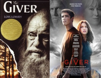 The Giver Book and Movie Posters